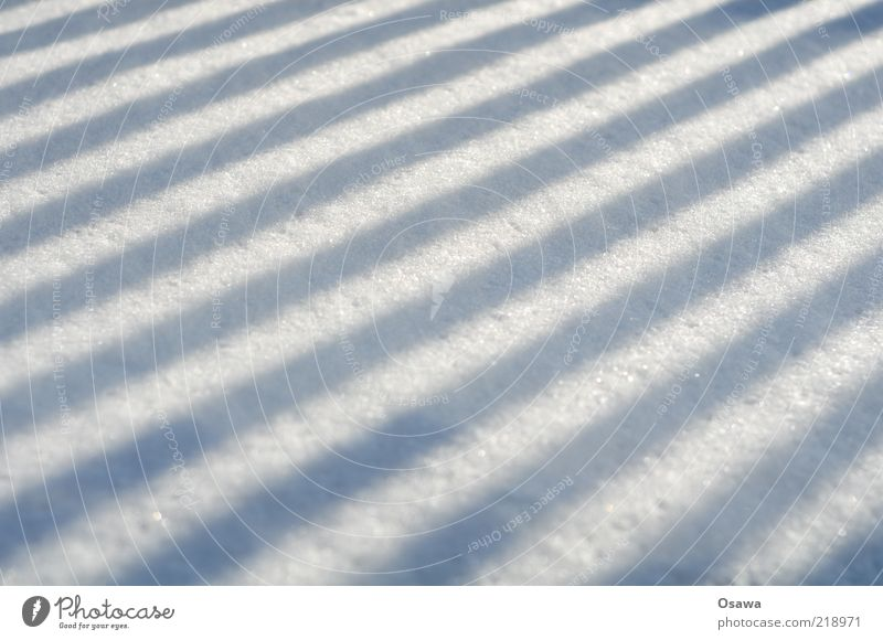///// Snow Shadow Fence Structures and shapes Background picture Sunlight Drop shadow Perspective Winter White Gray Landscape format Untouched Line Stripe