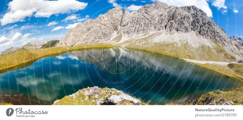 reflection panorama kogelsee Wellness Life Meditation Vacation & Travel Summer Summer vacation Mountain Hiking Sports Fitness Sports Training Nature Alps Coast