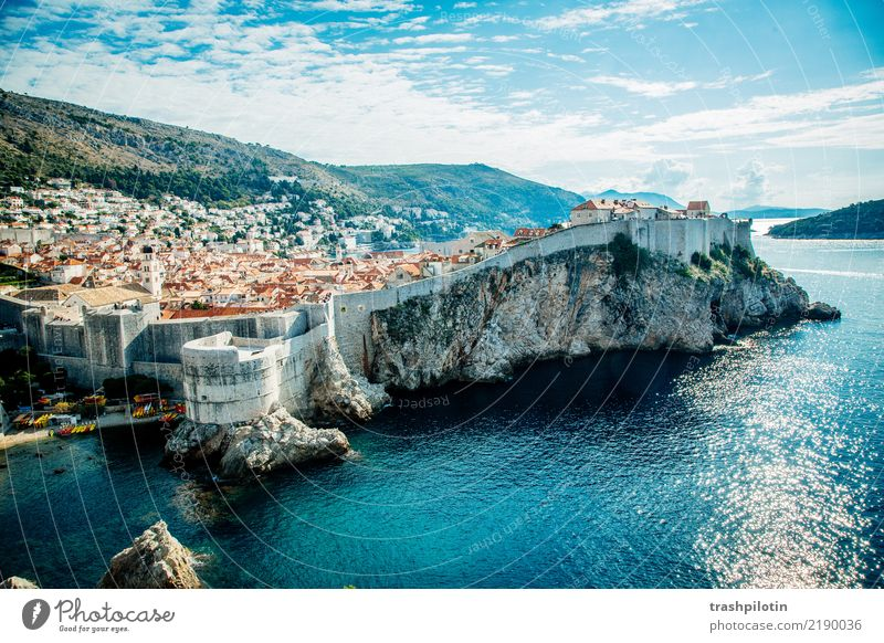 Vacation & Travel Blue Town Water House (Residential Structure) Architecture Wall (building) Wall (barrier) Stone Glittering Esthetic Europe Tourist Attraction