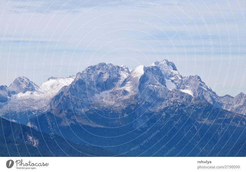 Karwendel mountain ridge and sky Vacation & Travel Mountain Climbing Mountaineering Nature Landscape Sky Autumn Winter Weather Rock Alps Peak Snowcapped peak