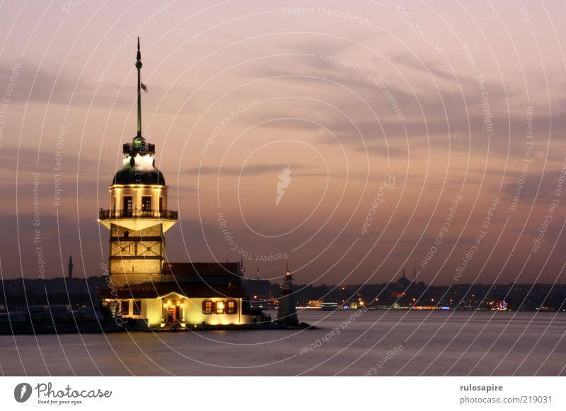 Bosporus #3 Vacation & Travel Tourism Far-off places Sightseeing City trip Ocean Air Water Clouds Night sky Horizon Sunrise Sunset Coast Bay The Bosphorus