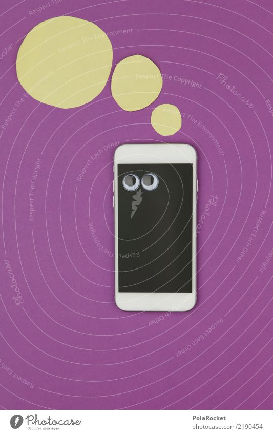 #AS# Mobile question Art Work of art Esthetic Cellphone Cellphone camera Display Screen Violet Thought Thoughtless Clever PDA Comic Think Computer network