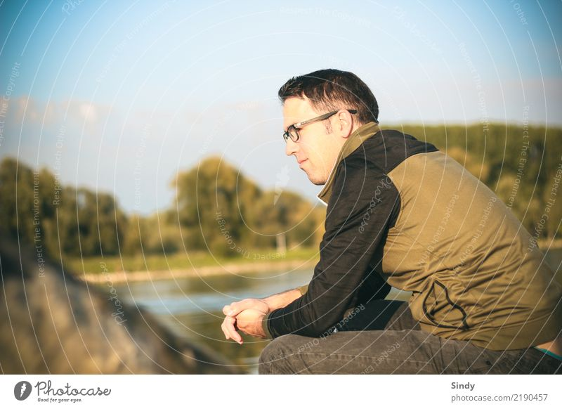Riverboy2 Human being Masculine Young man Youth (Young adults) Man Adults Body 1 13 - 18 years 18 - 30 years Nature Tree River bank Pants Sweater Eyeglasses