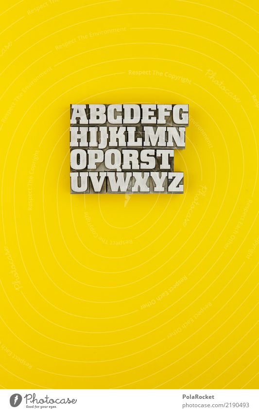 Yellow To talk Art Design Characters Esthetic Communicate Telecommunications Letters (alphabet) Many Document Typography Work of art Print media Selection