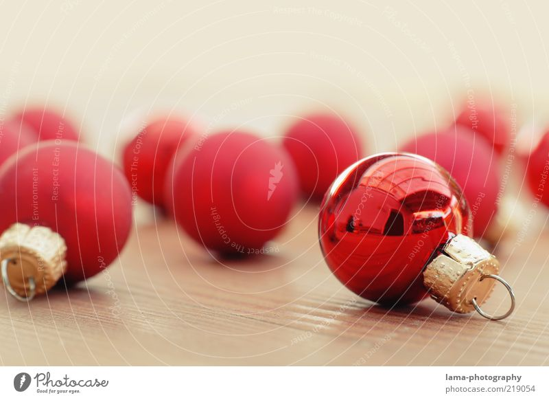 Please hang up! Decoration Esthetic Glittering Round Gold Red Glitter Ball Christmas decoration Christmas & Advent Sphere December Colour photo Studio shot