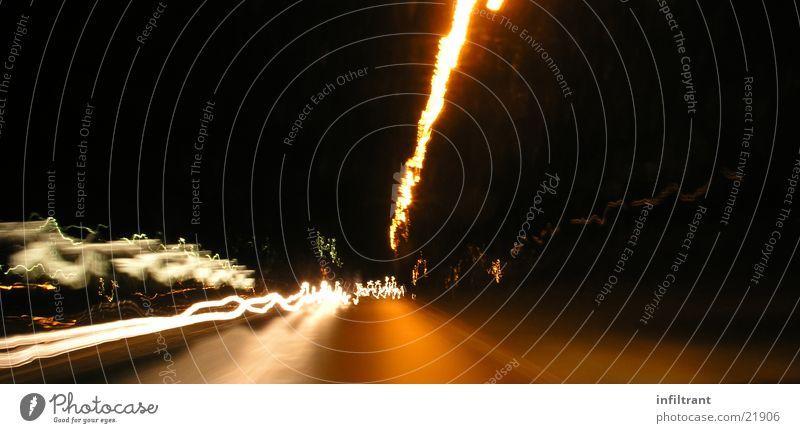 night ride Light Long exposure Night Dark Strip of light Speed Street Movement Distorted Dynamics Floodlight Blur