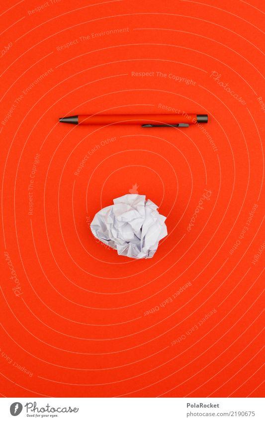 Blue Red Art Orange Esthetic Creativity Idea Paper Write Wrinkles Pen Brainstorming Ballpoint pen Wastepaper Wastepaper basket Waste paper