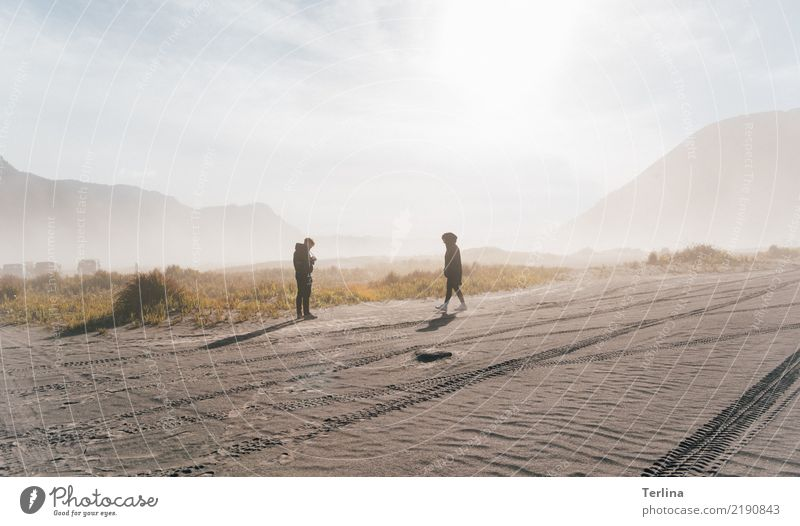 Bromo Desert Vacation & Travel Tourism Trip Adventure Far-off places Expedition Hiking Human being 2 Nature Landscape Elements Sand Observe Think Going Looking