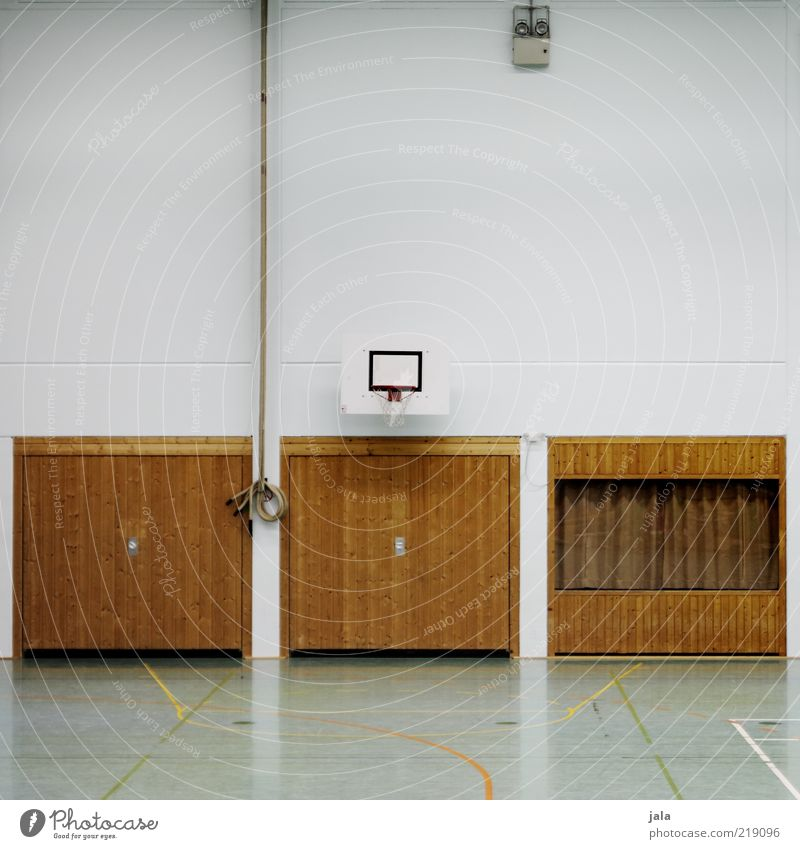 Sports Building Facade Empty Clean Manmade structures Playing field Gate Basketball Basketball basket Gymnasium Sporting Complex Wooden gate Basketball arena