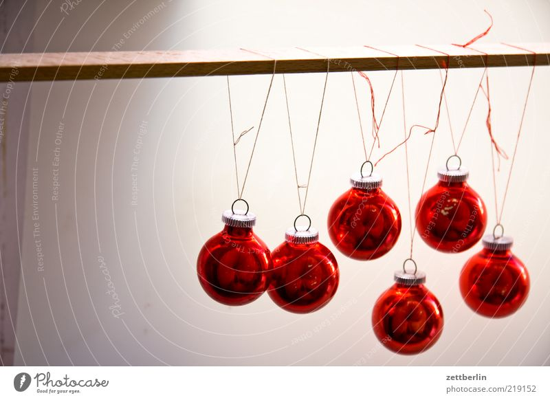 Christmas & Advent Red Style Art Glass Design Round Decoration Sphere Jewellery Glitter Ball Hang Sewing thread Knot