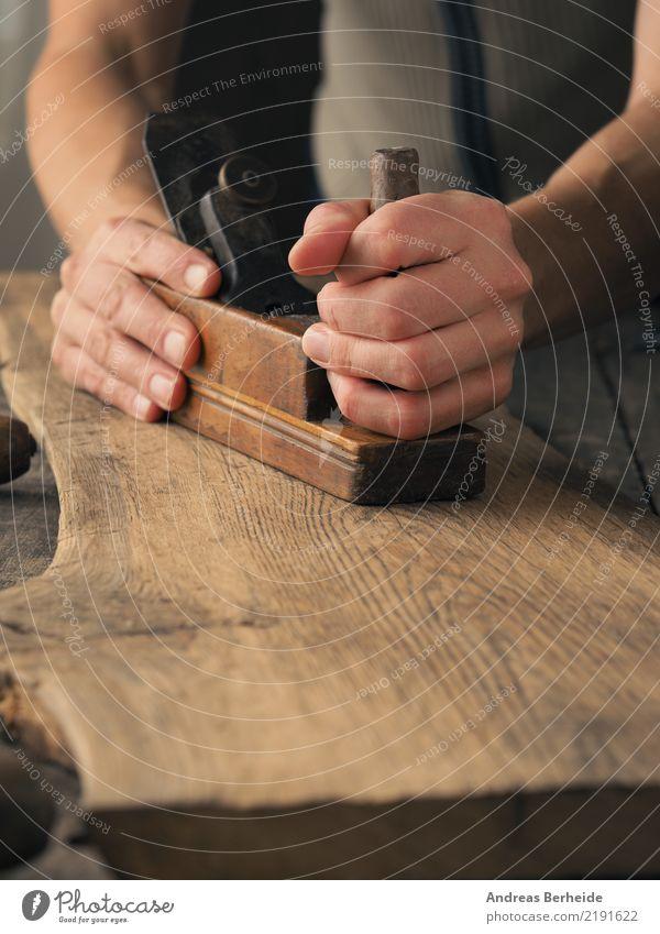Woodworking with a plane Craftsperson Craft (trade) Construction site SME Tool Retro Idea Uniqueness Creativity carpenter carpentry construction craft handyman