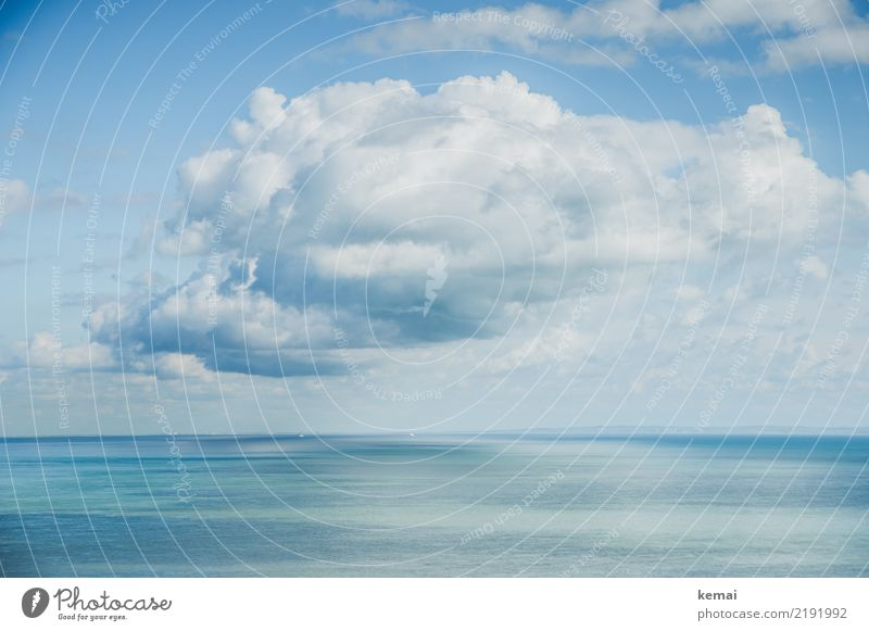 the cloud Harmonious Well-being Contentment Senses Relaxation Calm Leisure and hobbies Trip Adventure Far-off places Freedom Summer Sun Ocean Nature Air Water