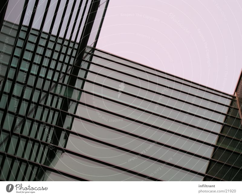 House (Residential Structure) Window Building Glass High-rise Facade Modern Window pane