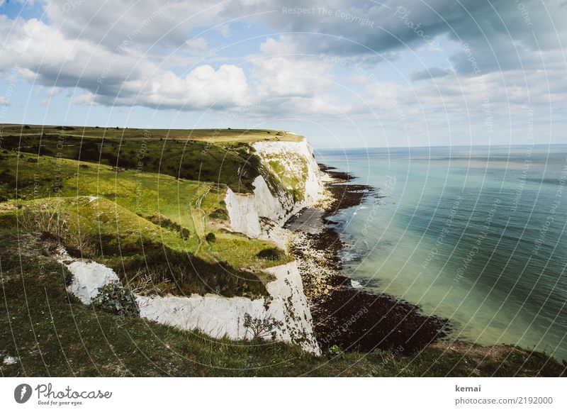 White cliffs with green Life Harmonious Well-being Contentment Senses Relaxation Calm Leisure and hobbies Vacation & Travel Tourism Trip Adventure