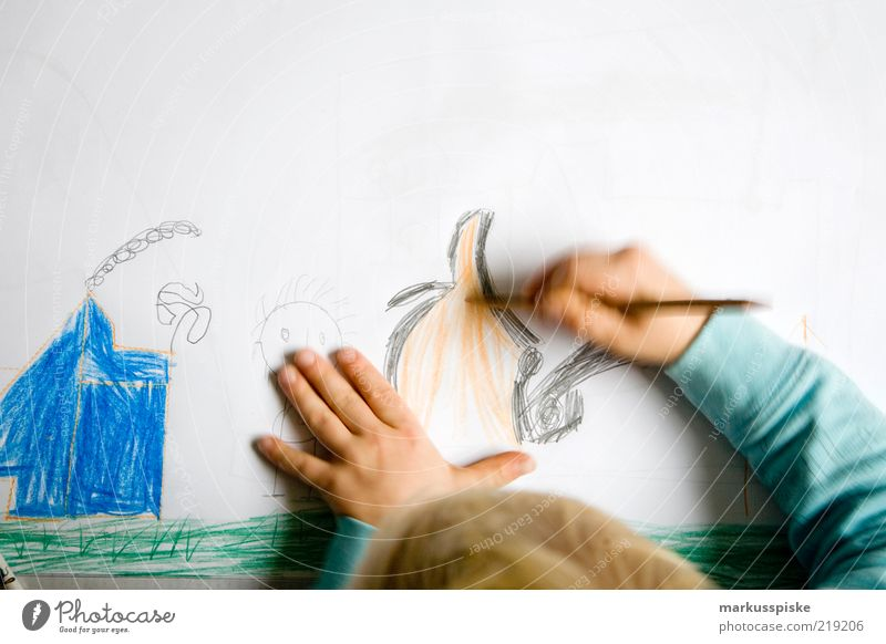 Human being Child Hand Boy (child) Movement Infancy Flat (apartment) Free Fingers Study Authentic Paper Communicate Education Infinity Painting (action, artwork)