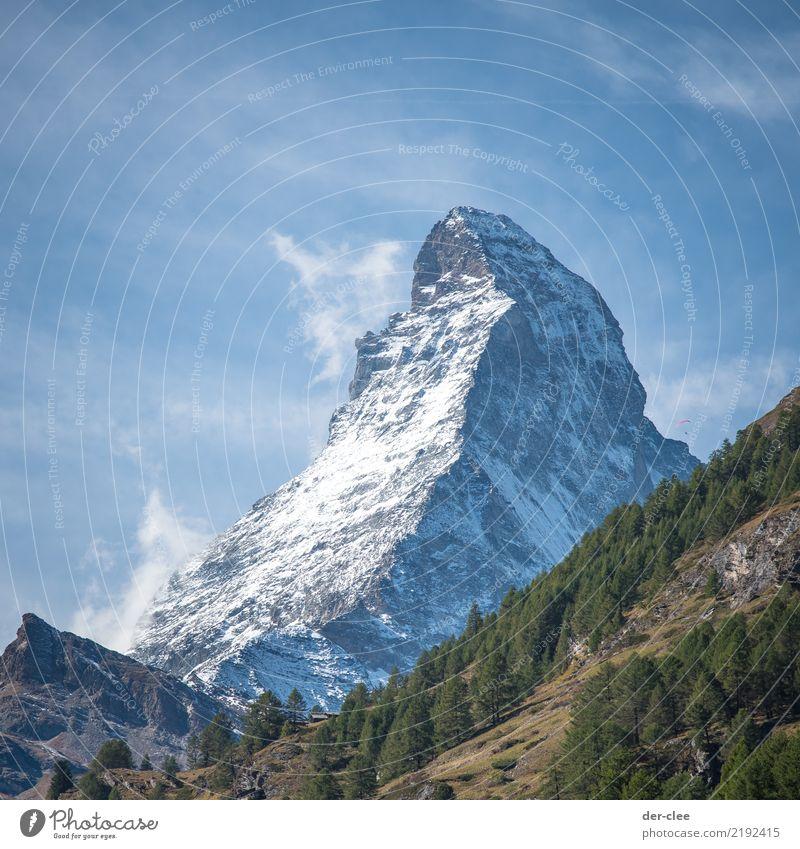 matte horn Environment Nature Landscape Elements Sky Clouds Rock Alps Mountain Matterhorn Peak Snowcapped peak Enthusiasm Honor Calm Wanderlust Force Adventure