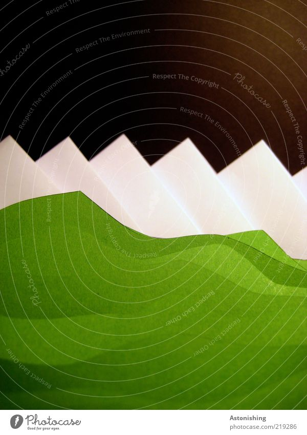 Nature Green White Black Environment Landscape Mountain Grass Art Horizon Ice Earth Large Tall Modern Paper