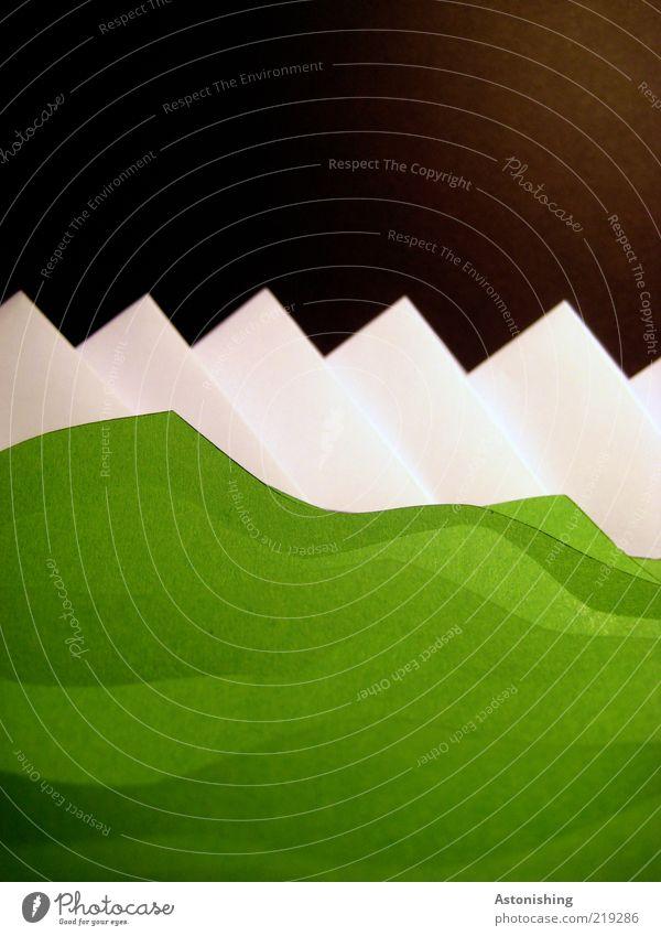 Nature Green White Black Environment Landscape Mountain Grass Art Horizon Ice Earth Large Tall Modern Paper