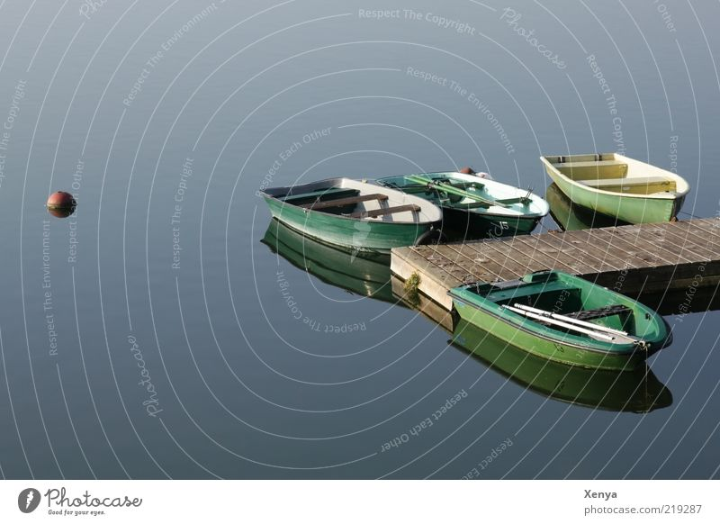 Water Green Blue Calm Lake Watercraft Footbridge Jetty Light Rowboat Float in the water Buoy Surface of water