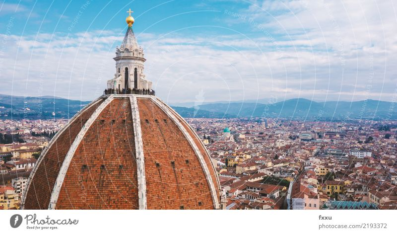 Cathedral of Florence Vantage point Town House (Residential Structure) Religion and faith Church Building Italy Landscape Roof Tourism Architecture Tuscany
