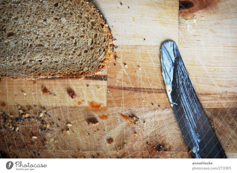 Moin - Breakfast! Food Bread Crumbs Breadcrumbs Nutrition Dinner Organic produce Vegetarian diet Knives Chopping board Table Brown Whole grain bread