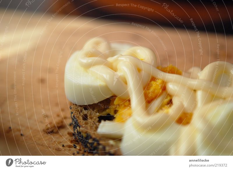 Nutrition Food Delicious Breakfast Egg Bread Fat Dinner Chopping board Organic produce Partially visible Section of image Sandwich Dish Baked goods Detail