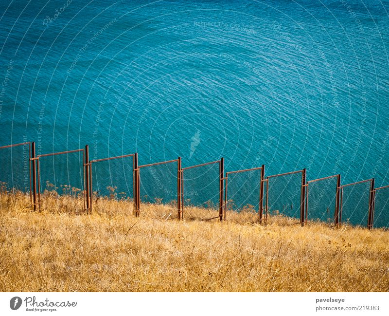 Water Lake Landscape Protection Hill Border Turquoise Fence Lakeside Barrier Boundary Barred Fenced in