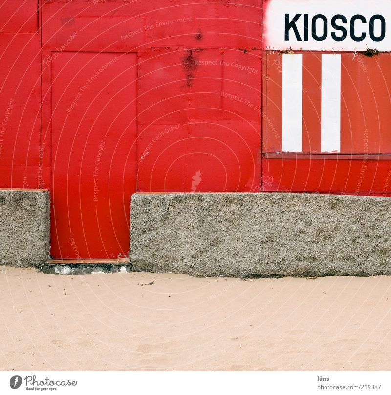 Old White Red Gray Wall (barrier) Sand Metal Door Concrete Closed Authentic Partially visible Section of image Siesta Stalls and stands