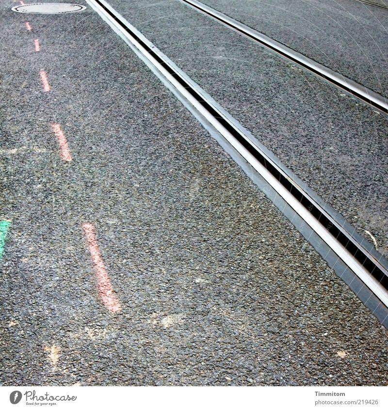 Gray Metal Line Pink Transport Construction site Asphalt Pure Railroad tracks Tar Rail transport Public transit