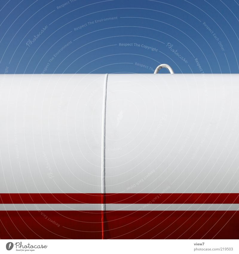 Sky White Red Line Metal Elegant Energy industry Modern Esthetic New Logistics Authentic Simple Thin Stripe Steel