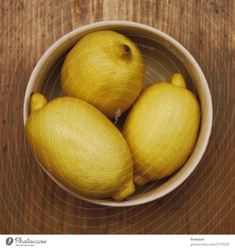 Nutrition Food Fruit Still Life Bowl Lemon Sense of taste Sour Perspective Wooden table Lemon yellow Lemon peel