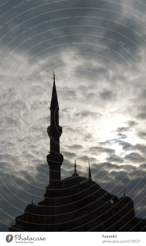 Sky Clouds Architecture Religion and faith Building Church Manmade structures Landmark Capital city Tourist Attraction Islam Istanbul Mosque Vacation & Travel