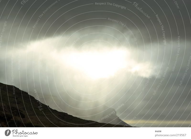 Here comes the sun Freedom Mountain Environment Nature Landscape Clouds Storm clouds Climate Exceptional Dark Fantastic Bright Iceland High plain Plain Breach