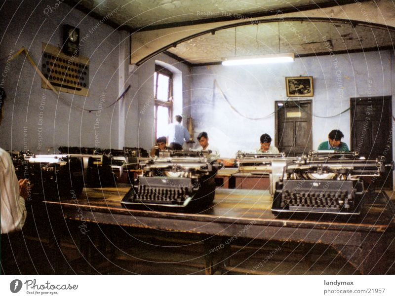 School Transport Study Nepal India Education Typewriter Himalayas Typing