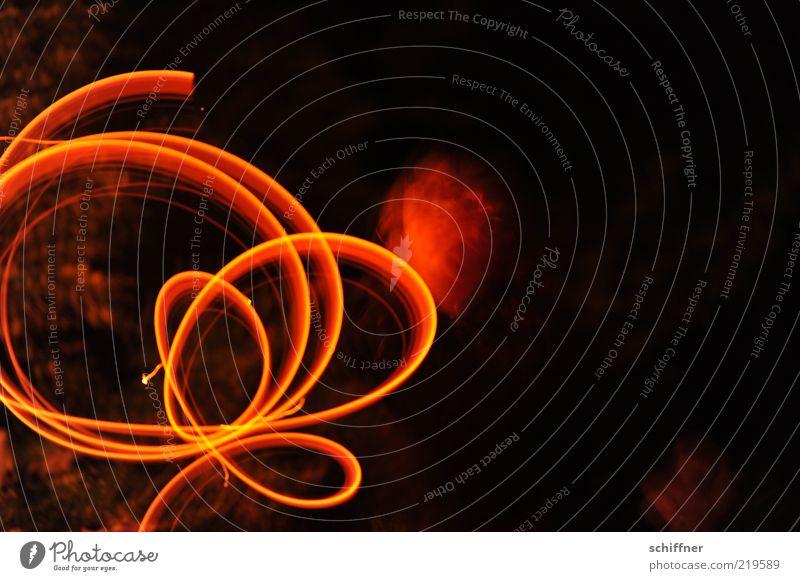 Human being Red Black Dark Playing Movement Orange Speed Circle Illuminate Painting (action, artwork) Flexible Circle Long exposure