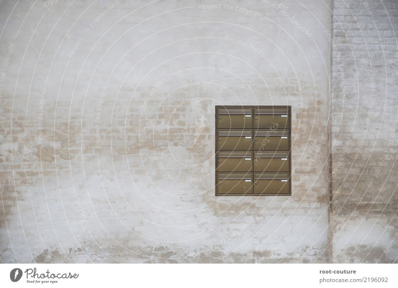 House (Residential Structure) Wall (building) Background picture Building Wall (barrier) Brown Facade Retro Communicate Logistics Write Advertising Vintage