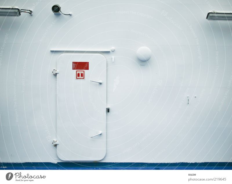 White Wall (building) Bright Metal Watercraft Door Closed Signage Safety Navigation Steel Graphic Clue Ferry Deck Warning sign