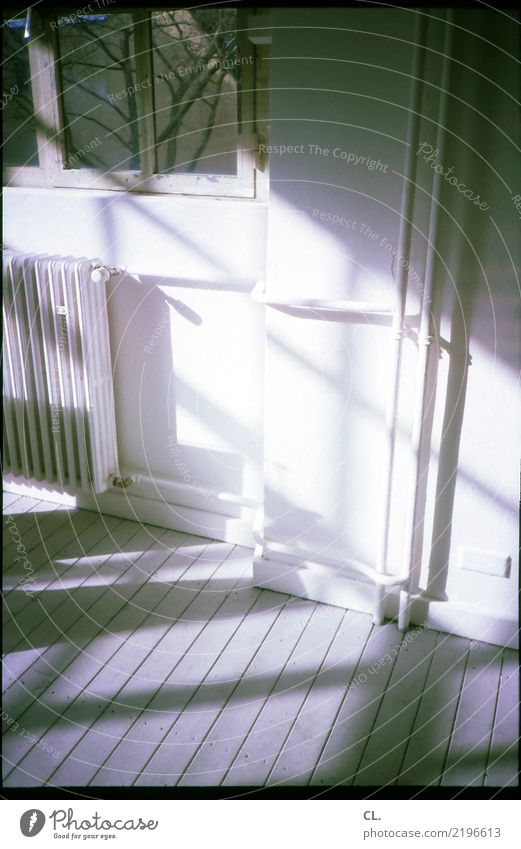 Window Wall (building) Wall (barrier) Flat (apartment) Living or residing Room Analog Wooden floor Heating Period apartment Heating pipe