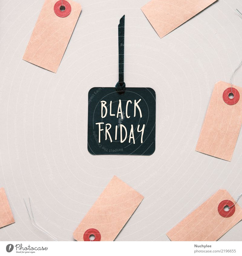 Black friday sale tag Shopping Style Design Thanksgiving Business Fashion Paper Exceptional Red Friday Sale Conceptual design flat lay price background ticket