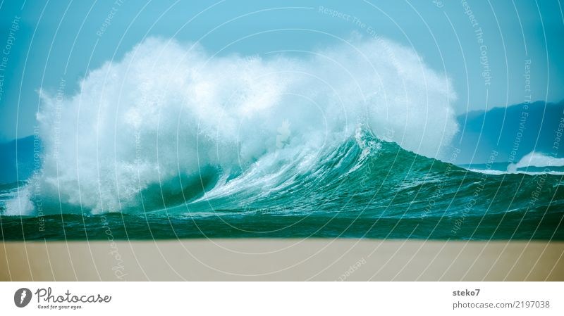 Blue Water Ocean Movement Wild Waves Fresh Power Wind Wet Threat Turquoise Gale Chaos Dynamics Maritime