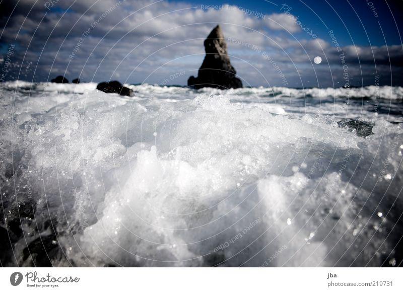 broken Trip Freedom Summer vacation Beach Ocean Waves Nature Elements Air Water Autumn Beautiful weather Gale Coast Bay Scotland Tourist Attraction Stone