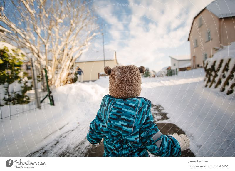 Sneee! Freedom Winter Snow Human being Masculine Baby Toddler Boy (child) Brother Family & Relations Infancy 1 1 - 3 years Blue Brown Green White Cap Woolen hat