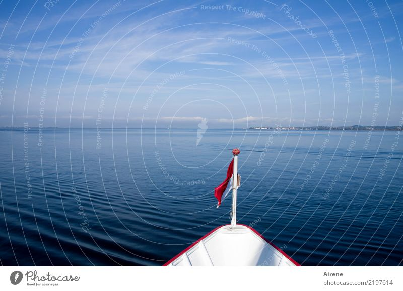 Sky Vacation & Travel Blue Colour Water White Red Calm Coast Swimming & Bathing Lake Trip Horizon Signs and labeling Beautiful weather Driving