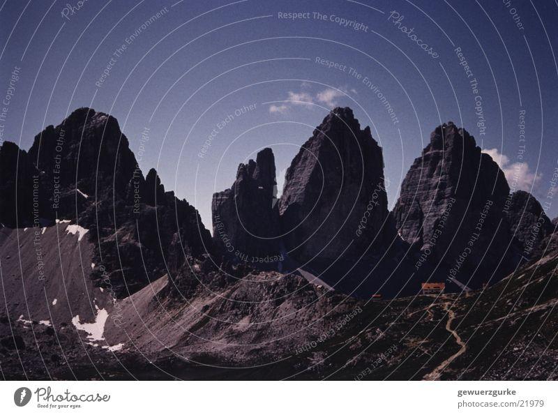 Mountain Italy Hut Dolomites Mountain lake South Tyrol Alpine hut Merlon