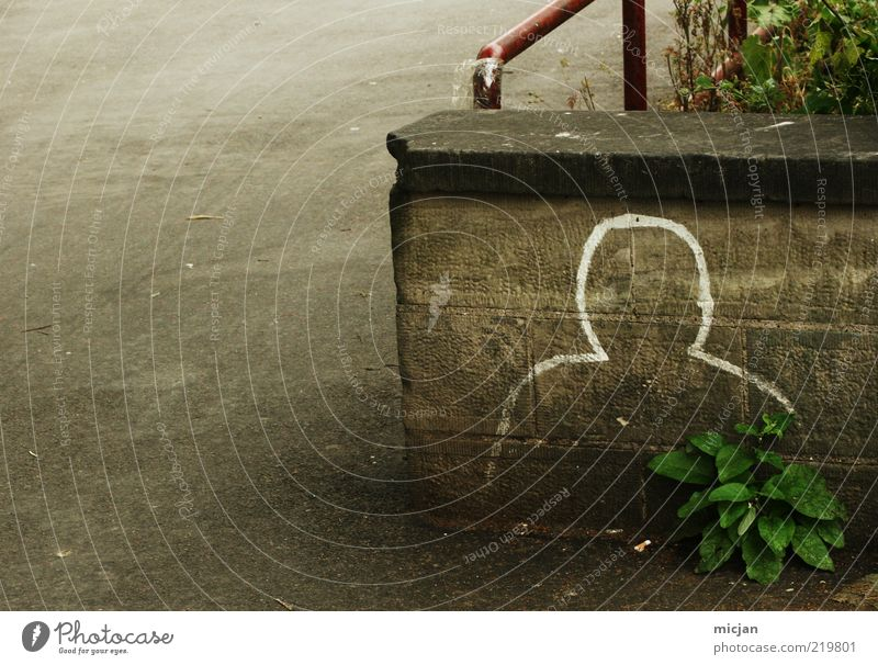 Man White Adults Loneliness Street Emotions Graffiti Head Stone Wall (barrier) Masculine Brick Hide Anonymous Identity Drawing