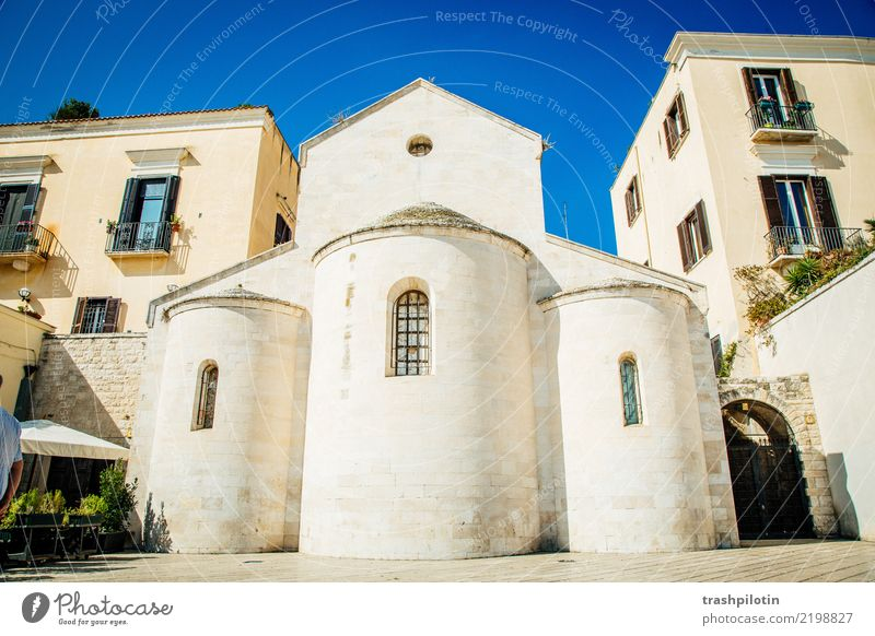Vacation & Travel Blue Summer White Sun Far-off places Architecture Building Tourism Freedom Stone Trip Church Adventure Italy Tourist Attraction