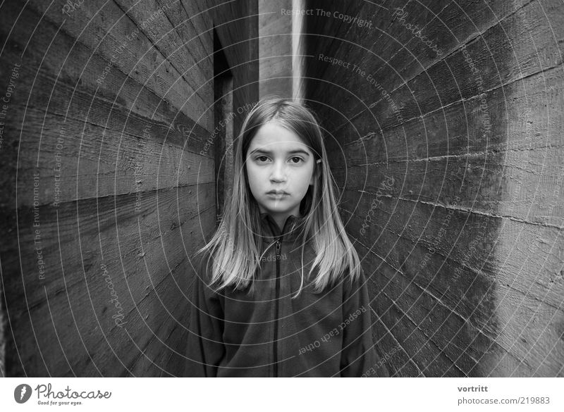 mesmerizing Child Girl 1 Human being 8 - 13 years Infancy Manmade structures Building Wall (barrier) Wall (building) Blonde Long-haired Part Stone Concrete