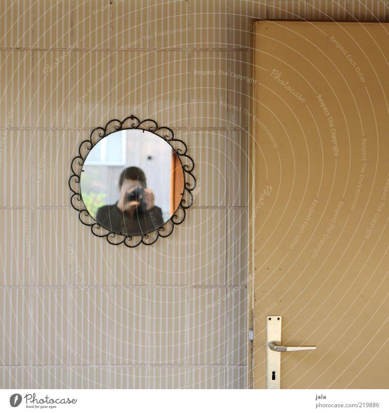 Human being Woman Adults Wall (building) Door Flat (apartment) Esthetic Living or residing Car door Camera Mirror Tile Door handle Photographer Take a photo