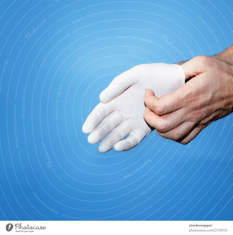 Glove Hand White Clean Doctor Protection Health care Human being Rubber Gloves Stretching Protective clothing Protective Protective Latex