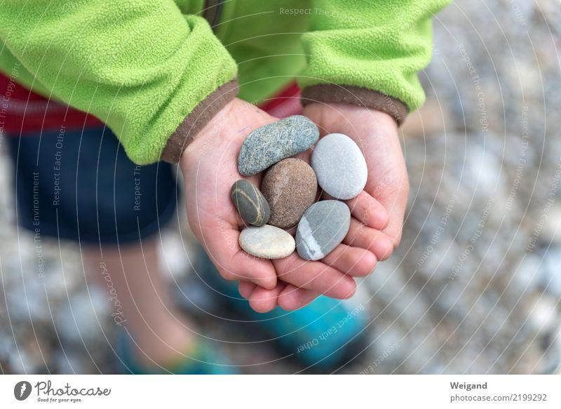 Child Human being Nature Vacation & Travel Hand Relaxation Calm Girl Boy (child) Happy Stone Gray Trip Contentment Free Infancy